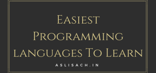 Easiest Programming languages To Learn - aslisachin