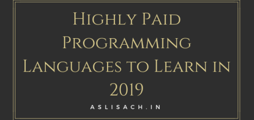 Highly Paid Programming Languages to Learn in 2019