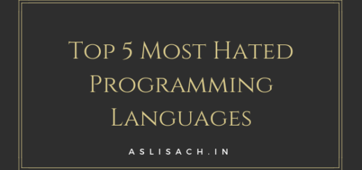 Top 5 Most Hated Programming Languages