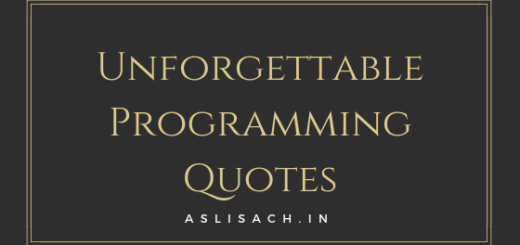 Unforgettable Programming Quotes