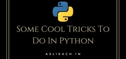 Some Cool Tricks To Do In Python