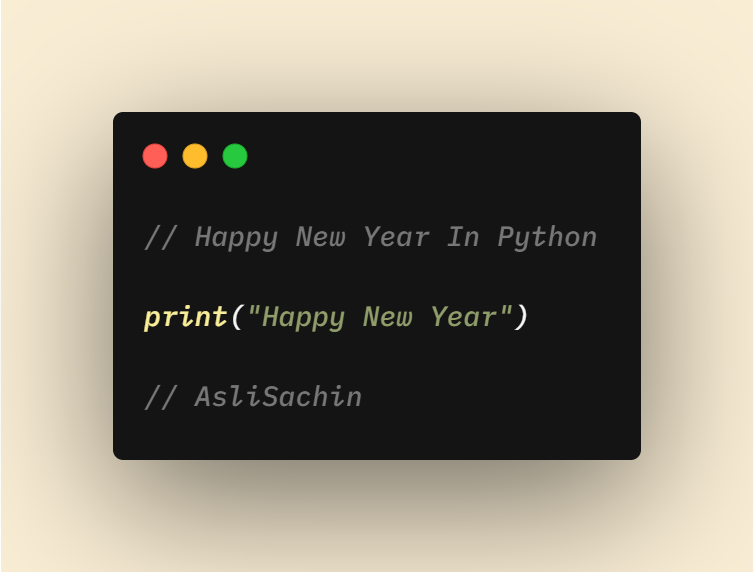 happy new year in python