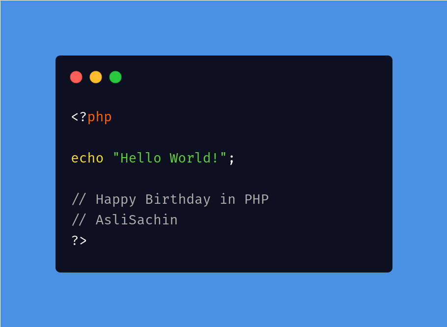 Happy Birthday in PHP